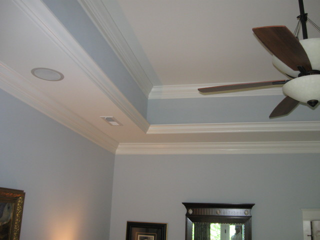 ceiling crown molding in kitchen | 15. Tray ceiling with lighting behind  the crown moulding