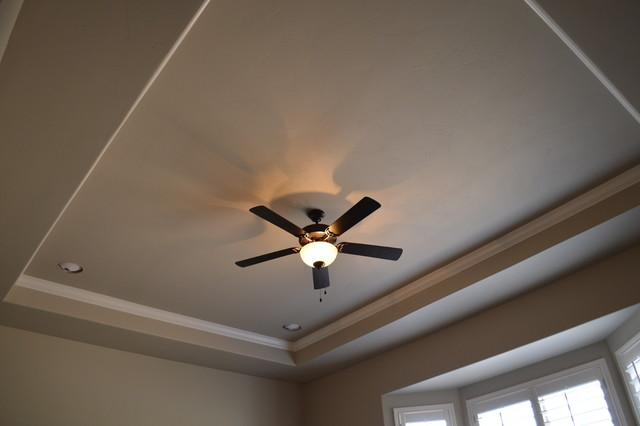 Tray Ceiling With Crown Molding Bedroom Other Metro