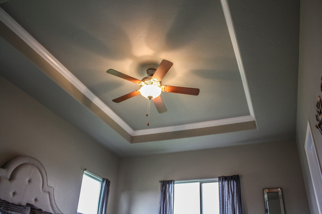 Tray Ceiling With Crown Molding Craftsman Bedroom