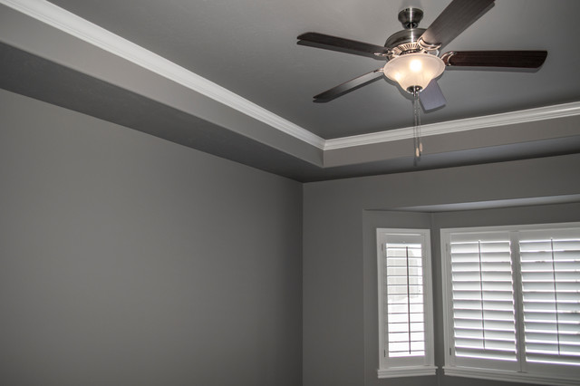 tray ceiling with crown molding  traditional  bedroom  other, Bedroom decor