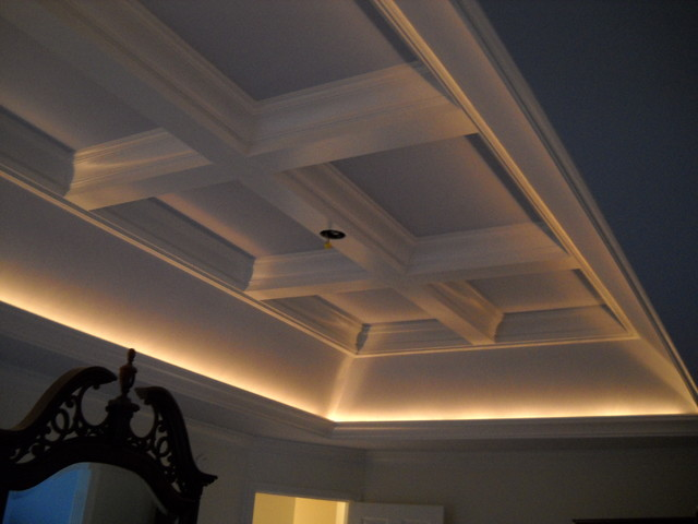 Tray/Coffered Ceiling - Traditional - Bedroom - other metro - by Marrs Trimworks