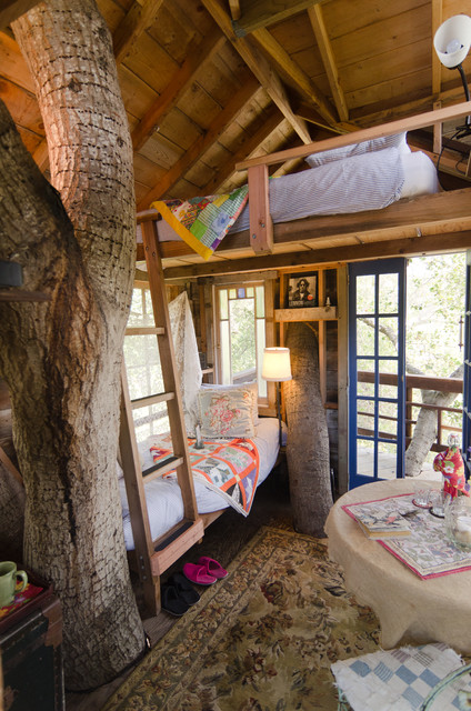 Charming Treehouse Rustic Bedroom
