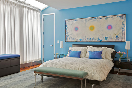 contemporary bedroom by new york interior designer marie burgos design