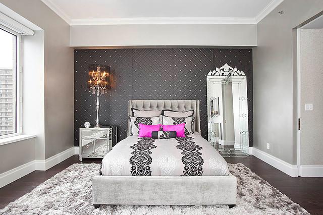 Trump Place contemporary-bedroom