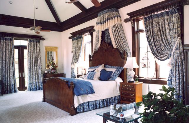 Tudor grandeur traditional bedroom by miller for Tudor style bedroom