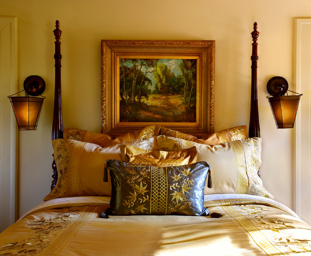Tudor revival estate full home design traditional for Tudor style bedroom