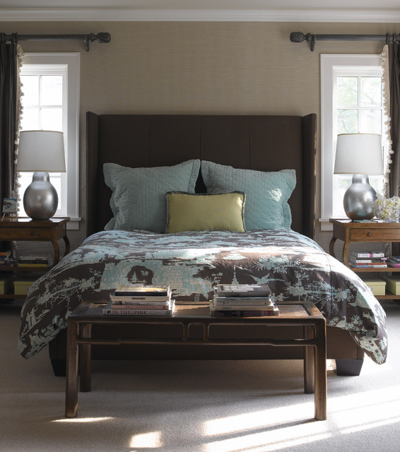 Tudor Revival transitional-bedroom
