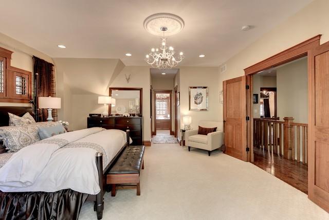 Tudor revival master bedroom craftsman bedroom for Tudor style bedroom