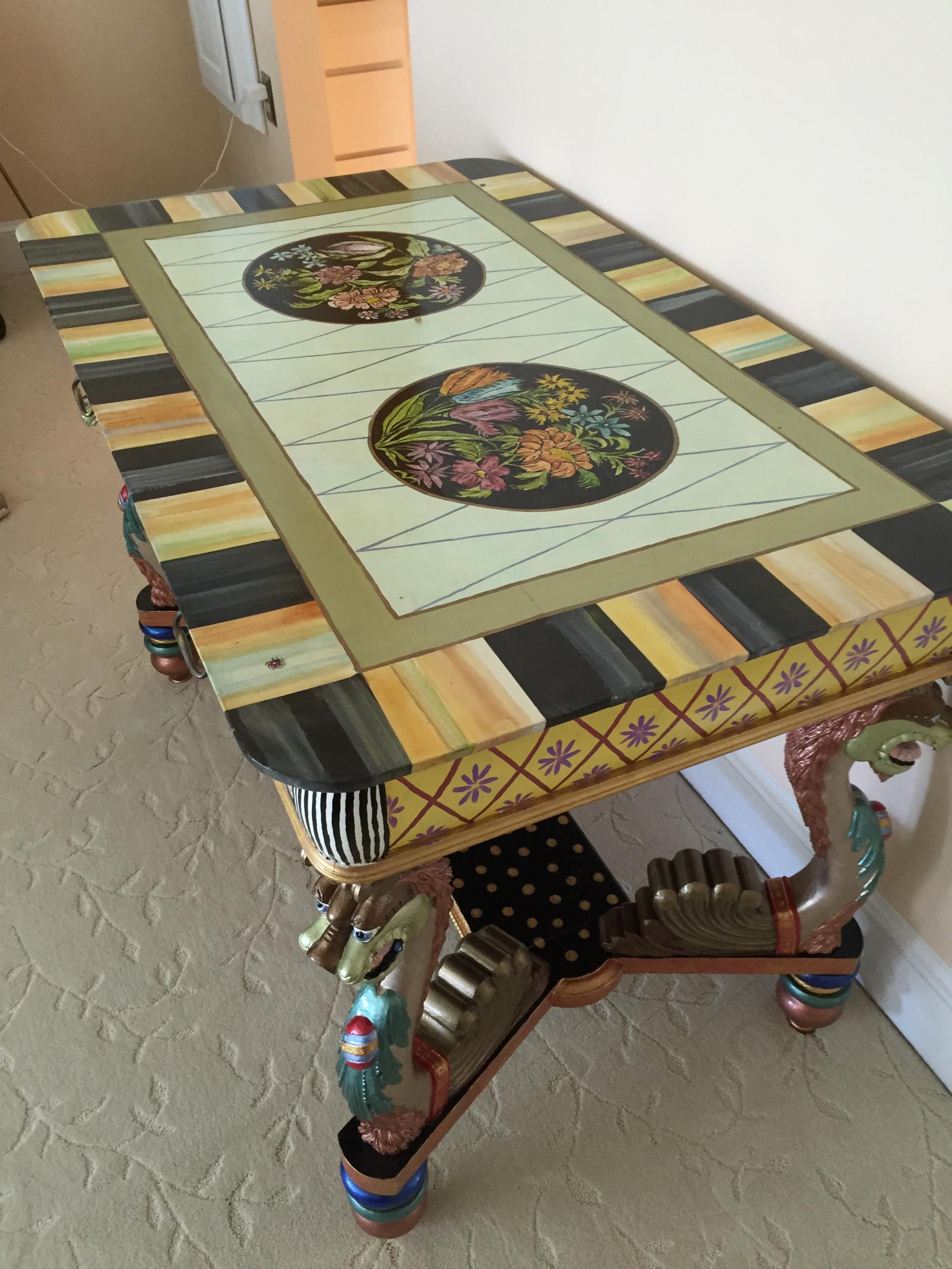 Turn antique desk into a piece of art.