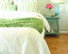Turquoise and Green Bedroom rustic-bedroom