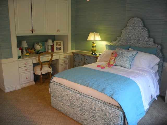 Turquoise Bed with trundle traditional bedroom