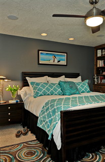 Turquoise Master Eclectic Bedroom Boise By Judith Balis Interiors