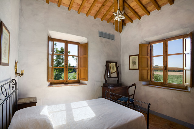 Tuscan Country House Siena Italy Mediterranean Bedroom