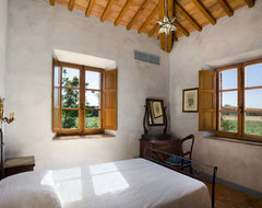 Tuscan Country House, Siena, Italy mediterranean bedroom