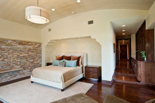 Tuscan Custom Home on Golf Course mediterranean-bedroom