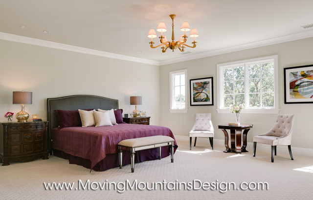 Tuscan Style Builder Home Staging Master Bedroom