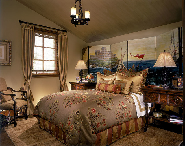 Tuscany style guest bedroom suite traditional for Tuscan bedroom design