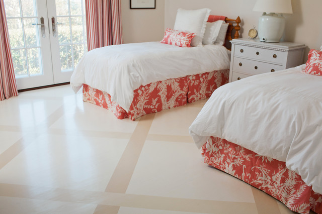 Twin Bedroom Floor Contemporary Bedroom Boston By