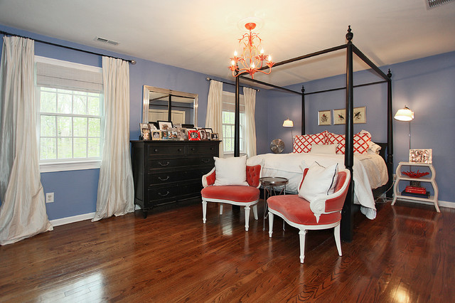 typical 1970's Colonial remodeld traditional-bedroom