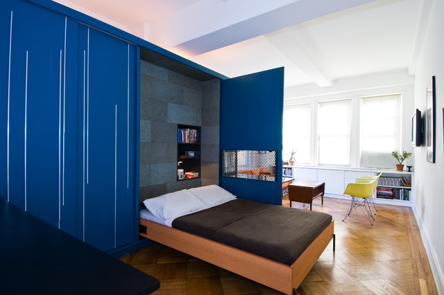 contemporary bedroom by michael k chen architecture - Bedroom Colors Blue