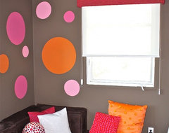 Pink, Orange & Chocolate Pre-teen Bedroom contemporary bedroom