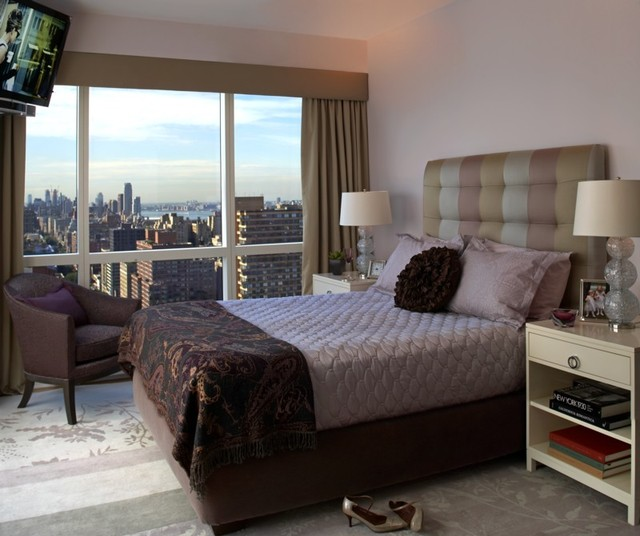 Upper west side bedroom modern bedroom new york by - Interior decoration new york ...