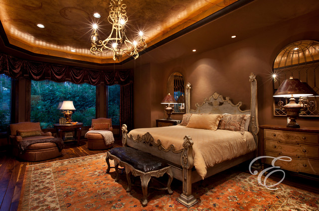 Upscale tuscan for Mediterranean bedroom