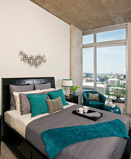 Uptown High Rise - Contemporary - Bedroom - Dallas - by Dona Rosene Interiors
