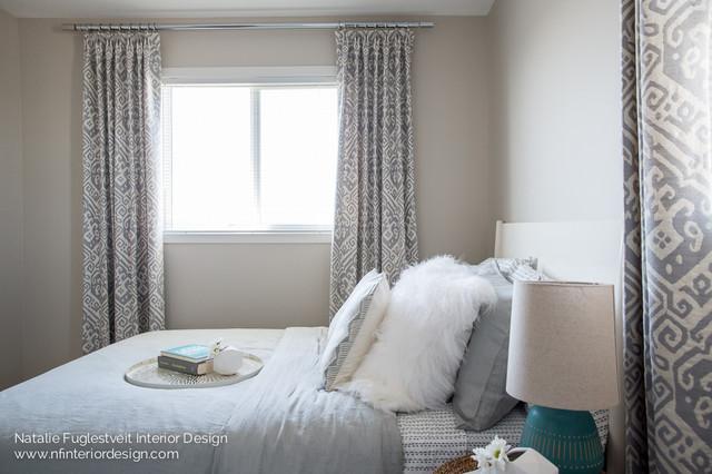 Urban Boho Guest Room Beach Style Bedroom Calgary By Natalie Fuglestveit Interior Design