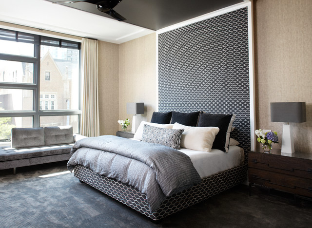 Urban Chic Contemporary Bedroom Chicago By Morgante Wilson Architects
