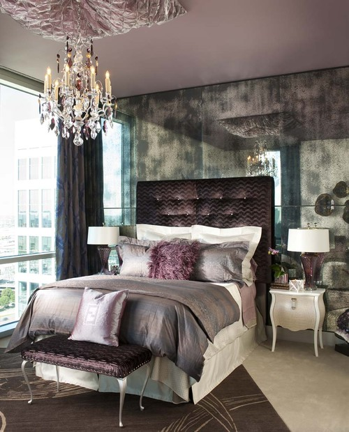 Urban Glam Guest Bedroom eclectic bedroom
