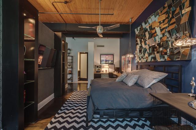 Urban industrial living for Interior design bedroom industrial