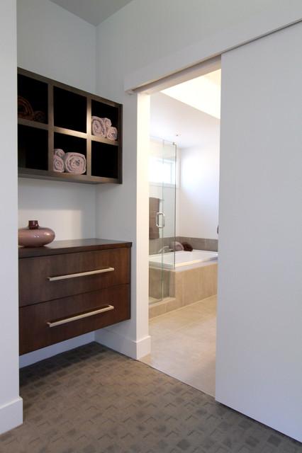 Urban Modern Master Bedroom Suite Entrance To Master Bath