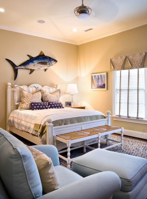 Beach Style Bedroom by Charleston Interior Designers & Decorators LORRAINE G VALE, Allied ASID