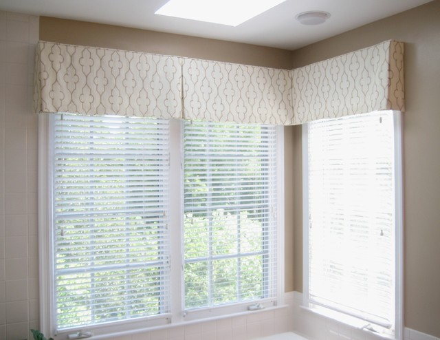 Delightful Valances Transitional Bedroom