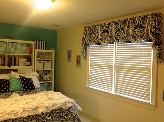 Valances traditional bedroom  Valances Traditional Bedroom San Diego by Sew  Bella Home. Bedroom Valances