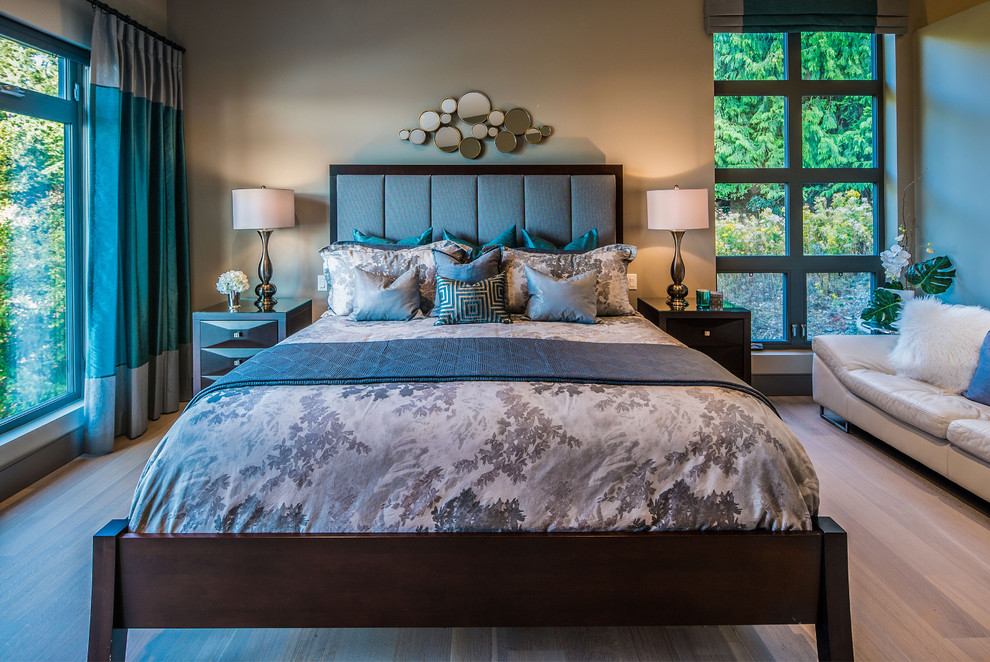 Example of a trendy bedroom design in Vancouver