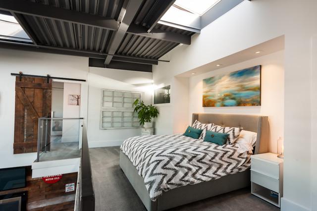 Camere Da Letto Matrimoniali Vintage : Vancouver loft vintage modern industriale camera da letto