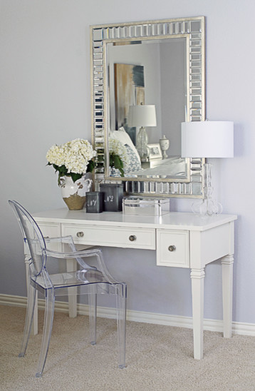 Vanity in master bedroom bedroom dallas by emily johnston larkin Vanity for master bedroom