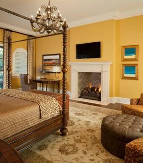 Euclid Avenue Estate Mediterranean Bedroom Dallas