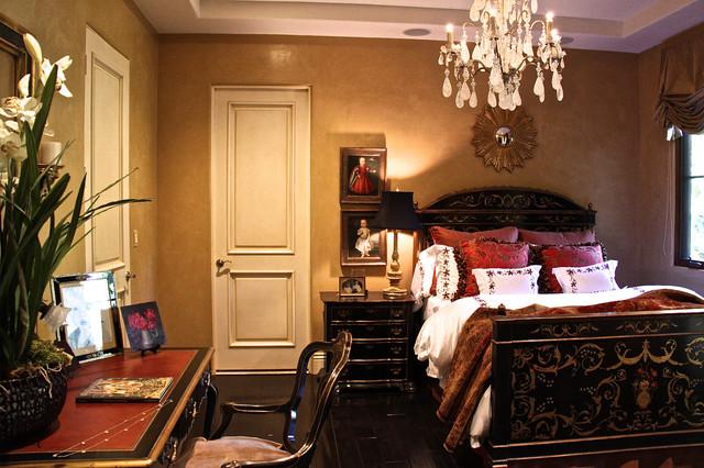 Venetian plaster bedroom mediterranean-bedroom