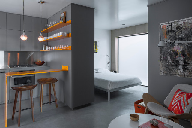 Venice Micro Apartment Contemporary Bedroom