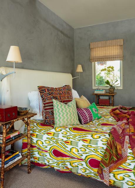 venice warm modern  eclectic  bedroom  los angeles