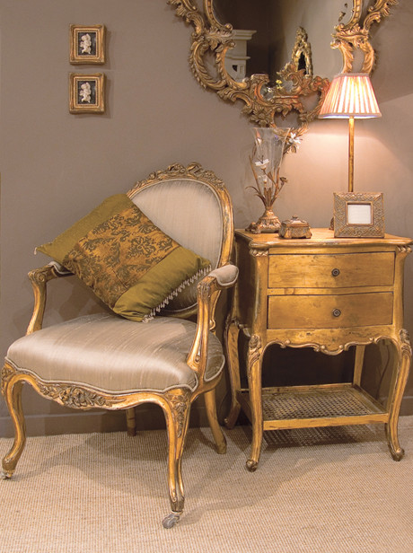Versailles Gold Bedside Table - Traditional - Bedroom ...