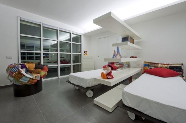 villa blu sky modern-bedroom