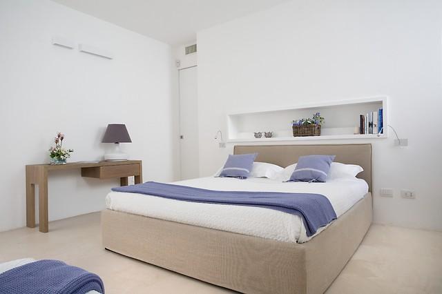 Cabina Armadio In Cartongesso Dietro Letto : Villa faro mediterraneo camera da letto bari di sebastiano