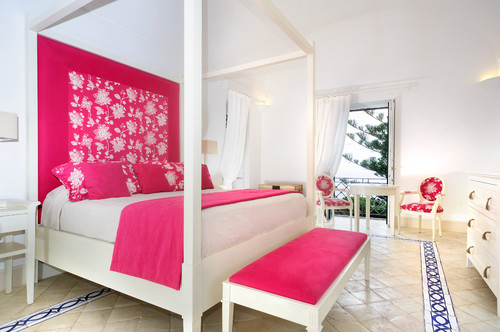 contemporary bedroom Color of the Month: Decorating with Pink
