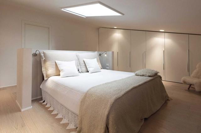 Villa minimal moderno camera da letto firenze di rachele biancalani studio - Camera da letto minimal ...
