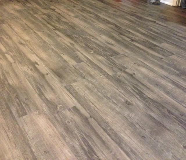 vinyl plank flooring and trim quarter round installed bedroom omaha. Black Bedroom Furniture Sets. Home Design Ideas