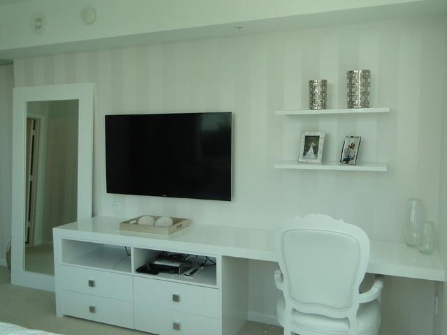 Viscaynne- small condo white, grey and black contemporary-bedroom